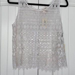 Woman's White Crochet Top
